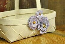 Shabby Chic Wedding Flower Girl Basket
