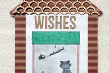 Christmas Digis / Cards made using our Christmas digi downloads