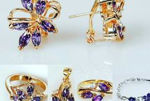 Аметист / Ювелирная бижутерия с аметистом. Кольцо, кулон, серьги, браслет, комплект.