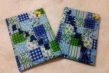 Caderno personalizado / Cadernos personalizado em feltro e tecido