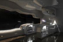 Spaceship interiors