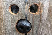 Gard din lemn / pentru catel sau gard exterior