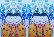 Happy Beetle - Die Käfer sind los! / Happy Beetle - die farbenfrohen Käfer sind bereit für neue Abenteuer! Illustrationen für Bilderbücher und Kinderzimmer. Von Hand gemalt mit Liebe, Stift und Aquarell.