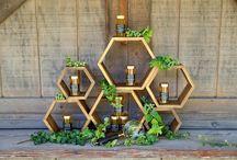 Geometric & metallic weddings
