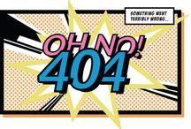 404 - not found / Layout de página não encontrada. Erro 404. Page not found.  Webdesign ideas.