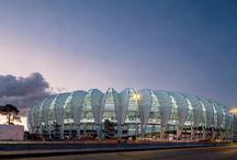 Arquitectura Deportiva / Tablero que muestra proyectos ajenos a Mo.A, que sirven para expresar nuestras preferencias arquitectónicas