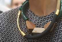 Wood statement jewellery