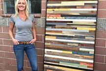 Wood wall art / DIY wall art - Wood wall art -  Wood work - Wood dekor -Modern wood wall art
