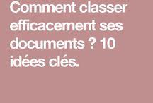 Rangement/classement