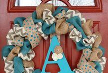 Burlap wreaths / by Katy Clark-Pettit