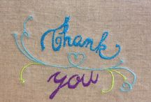 "Thank you Cards / Embroidery Cards  featuring ""Thank you"" message. Design and made by BonitoFracaso"