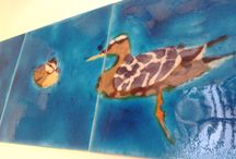 Hand-made Beautiful Bird tiles / To really personalize any room , use our unique Bird tiles...