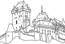 Omalovánky - hrady
