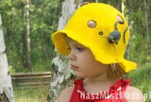 Hats/czapeczki / Wet felted hats, You can see more on www.naszmiszmasz.pl Czapki filcowane na mokro, wiecej wzorów na www.naszmiszmasz.pl