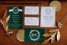 preppy wedding stationery / by Classic Bride blog