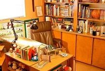 Cartoonist Studios / Interiors, studios, cartoonists.