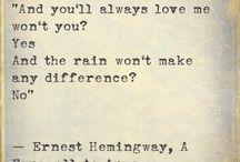 Ernest Hemingway and Eric Hanson