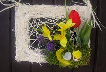 Wiosenne inspiracje / dekoracje wielkanocne , wianki i stroiki