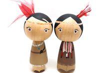 wooden dolls... & blocks...