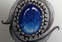 ZENtangle :Gems / Juwelen kleuren..