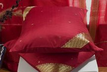 Sari Cushion Covers Throw pillows