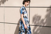 SS17 | Pleated Print Dress Look