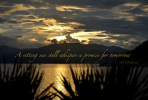 """Quotes / """"A setting sun still whispers a promise for tomorrow"""""""