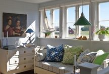 Blue and White themed rooms