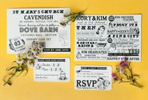 Wedding Stationery & Invitations / Stunning stationery, order of service, wedding invitations and pretty paper goodies. / by Whimsical Wonderland Weddings