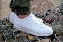 Nike Cortez Basic Leather  316418-113 'White/Grey'