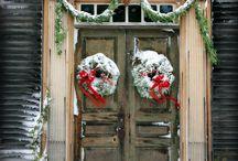 Christmas door decor / Holiday decoration