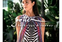 Gottex Swim 2015 / TRESemmé Stylist, Tyler Laswell, created soft, airy waves and sleek, sexy wet looks to complement Gottex's Interpretation of the modern, sophisticated woman.