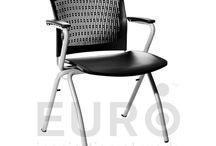 Office Seating - FITZ by EURO / Simple yet practical, FITZ chairs include foldable seats and smart armrests for easy stacking and mobility. A lightweight champion in its category, FITZ chairs can be stacked vertically or arranged horizontally for easy storing and floor space saving.