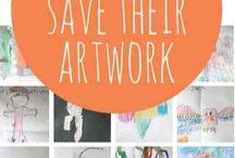saving kid artwork
