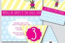 Lollipop Party Theme / thinkRSVP specializes in affordable digital files that you can print from home or your local print shop. All of our graphics are original and designed for personal use. Think about it… if it requires an RSVP, it requires cute and fun invitations, cake toppers, thank you cards, banners, bottle wrappers (see the trend?) and everything else to make it fabulous!