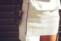 A White skirt