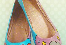 Katie White Art [Custom Accessories] / Customised shoes, bags, apparel and other goods with my own fair hands and original artwork. © Katie White ----- Website - www.katiewhiteart.com Facebook - https://www.facebook.com/PaiThagoras