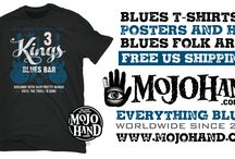 Blues gifts - perfect for fans of Blues guitar and harmonica / Blues t-shirts, posters, stickers, hats, cd's and blues folk art from Mojohand.com - the home of everything blues™ since 2001