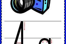 alfabet plansze