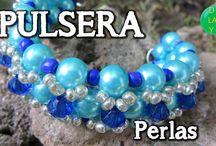 Pulsera fantasia / Pulseras de Macramé y perlas