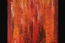 Pintura abstracta de Juan Argelés