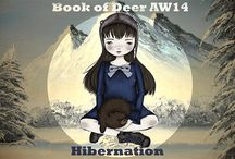 "AW14 Book of Deer Hibernation / Book of Deer Autumn Winter 2014 ""Hibernation""…inspired by sleepy bears, bare trees and woodland hideaways."