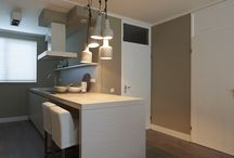 Interieur - woon- en eetkamer, keuken