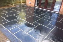 Back slate patio