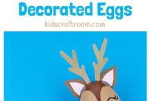 Decorate Eggs / Eggs aren't just for Easter. Here are some fun ideas to decorate eggs!