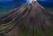 Volcanoes , lava