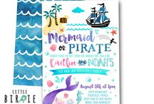 Mermaid Pirate Birthday Party Ideas