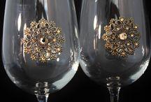 Jeweled Wine Glasses