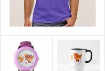Cute Cartoon Foxes Merchandise Collections by Cheerful Madness!! At Zazzle