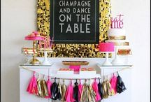 New Years Eve / New Years Eve ideas, NYE, New Years Eve dress, New Years Eve party decorations,  New Years Eve party ideas,  New Years Eve party themes,  New Years Eve party dress,  New Years Eve table decor...AND LOTS OF CHAMPAGNE, PLEASE!